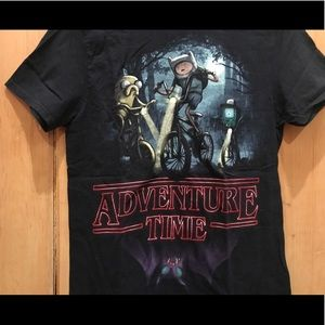 Adventure Time X Stranger Things Graphic T shirt